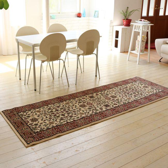 ウィルトン織りラグ 80×240  カーペット 絨毯 じゅうたん ラグ 西海岸 SW004