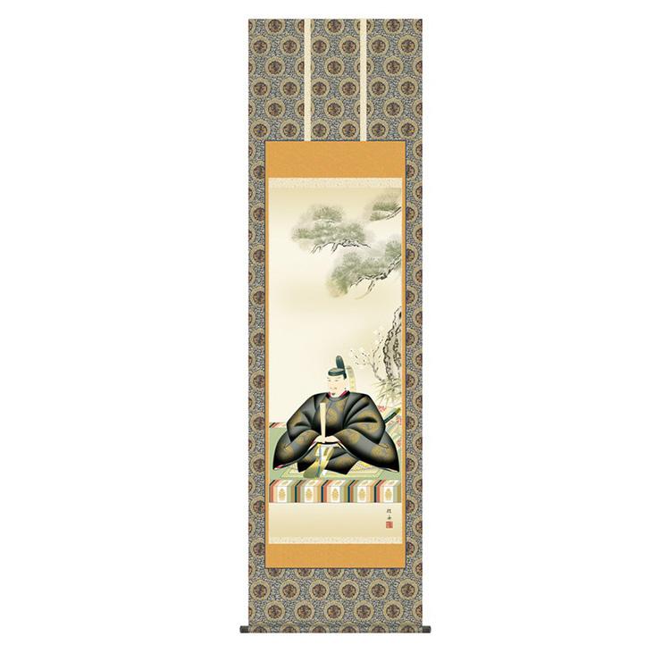 金襴緞子本丸表装 長江桂舟 「天神」 KZ2C4-039 幅54.5×高さ約190cm