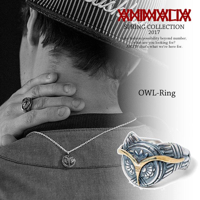 アニマリア ANIMALIA OWL-Ring animalia animal-ac55 メンズ レディース リング フクロウ シルバー ブラス 真鍮 指輪 送料無料 ストリート
