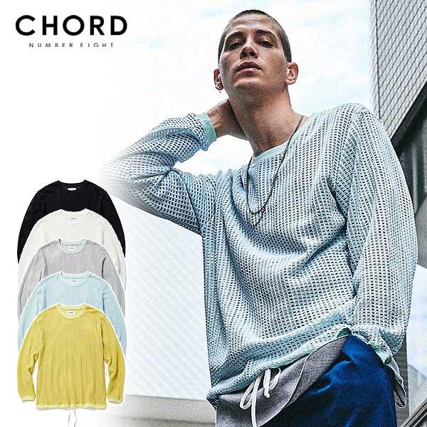 コードナンバーエイト CHORD NUMBER EIGHT MESH LONG SLEEVE CUTSEW ch01-02l1-cl02 chordnumbereight メンズ レディース Tシャツ 送料無料 ストリート