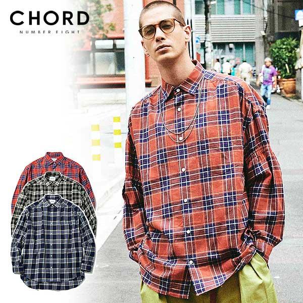 コードナンバーエイト CHORD NUMBER EIGHT CHECK FLANNEL SHIRT ch01-02l1-sl05 chordnumbereight メンズ レディース シャツ 送料無料 ストリート