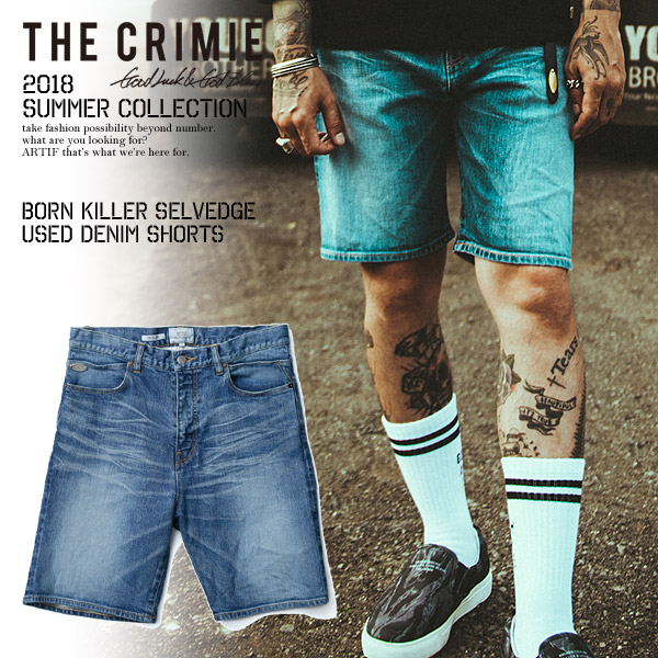 50%OFF SALE セール クライミー CRIMIE BORN KILLER SELVEDGE USED DENIM SHORTS c1h3-pt13 レディース メンズ パンツ ストリート 送料無料