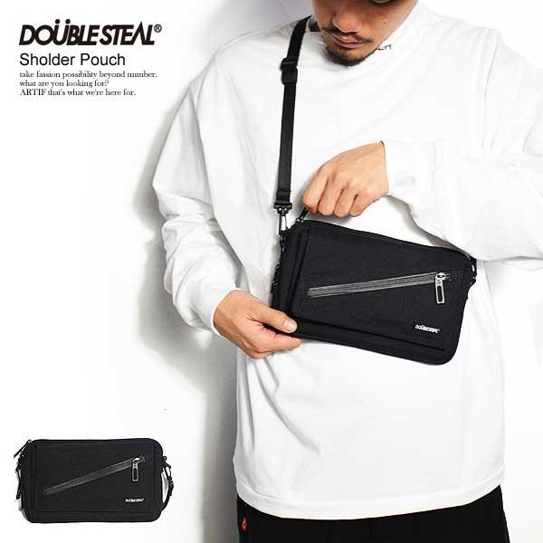 ダブルスティール DOUBLE STEAL SHOULDER POUCH 495-90017 レディース メンズ ショルダーバッグ 鞄 カバン おしゃれ かっこいい カジュアル ファッション ロゴ ストリート doublesteal
