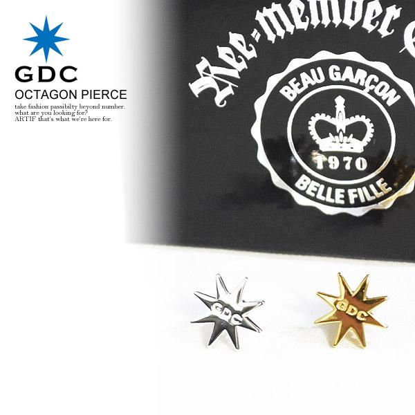 ジーディーシー GDC OCTAGON PIERCE gdc c37009 レディース メンズ ピアス アクセサリー オクタゴン おしゃれ かっこいい カジュアル ファッション ストリート
