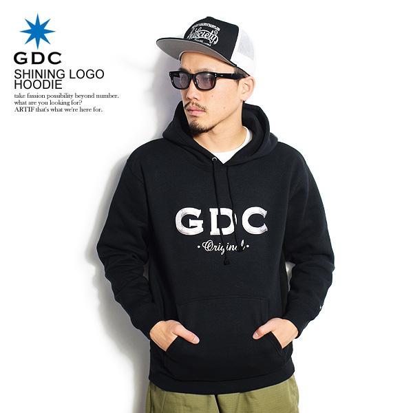 ジーディーシー GDC SHINING LOGO HOODIE m40006 レディース メンズ パーカー プルオーバーパーカー パーカー スウェット ストリート 送料無料 おしゃれ かっこいい カジュアル ファッション gdc