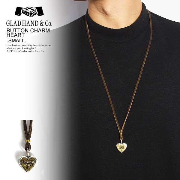 グラッドハンド GLAD HAND BUTTON CHARM HEART -SMALL- レディース メンズ ネックレス ボタンチャーム コンチョ アクセサリー 送料無料 おしゃれ かっこいい カジュアル ファッション ストリート gladhand