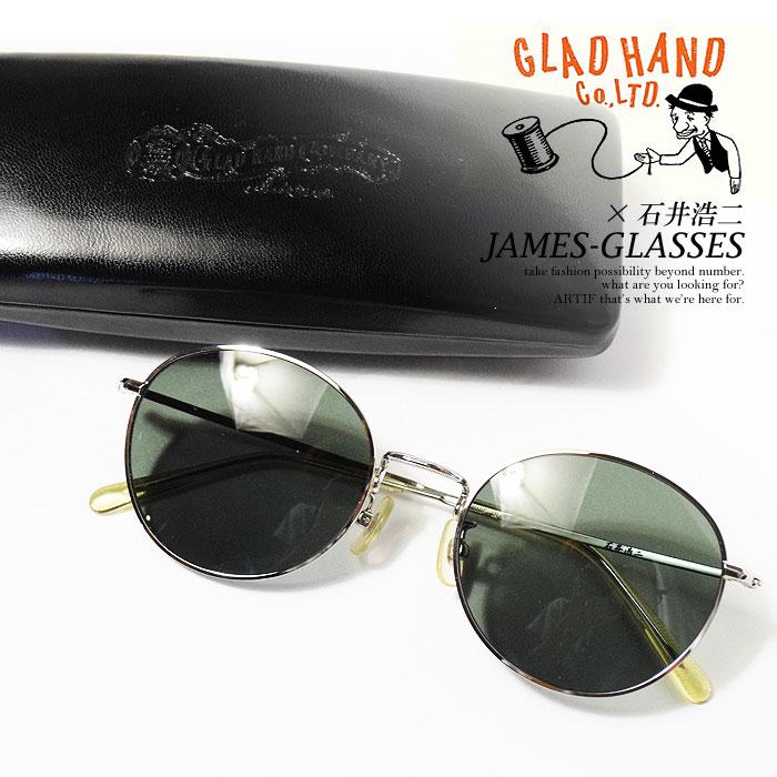 グラッドハンド×石井 浩二 GLAD HAND×石井 浩二 JAMES-GLASSES レディース メンズ サングラス 眼鏡 メガネ サークルタイプ アクセサリー ストリート おしゃれ かっこいい カジュアル ファッション 送料無料 gladhand