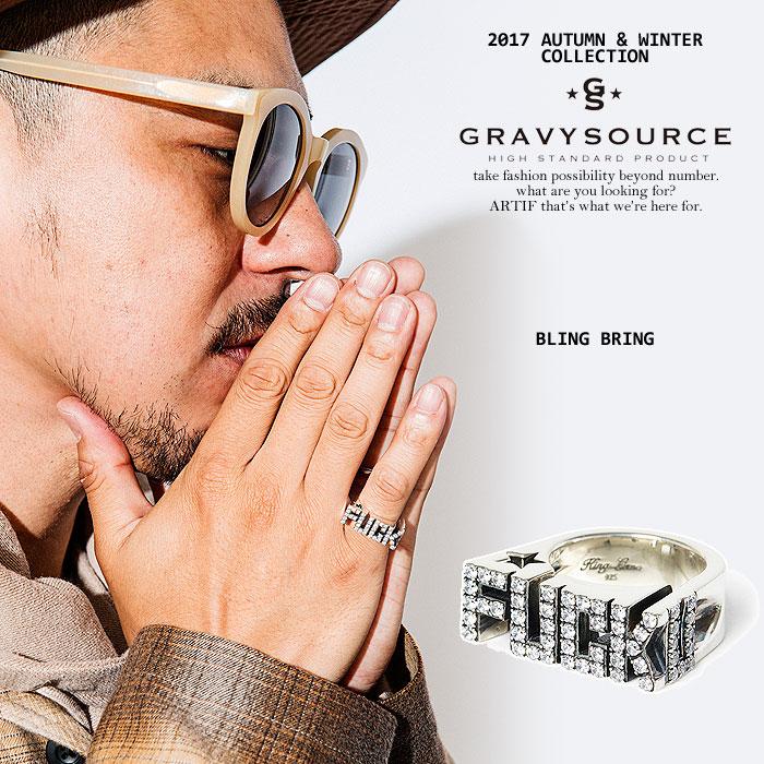 グレイビーソース GRAVYSOURCE BLING BRING gravysource 2017 秋 冬 メンズ レディース リング 指輪 ロゴ ストーン ストリート 送料無料