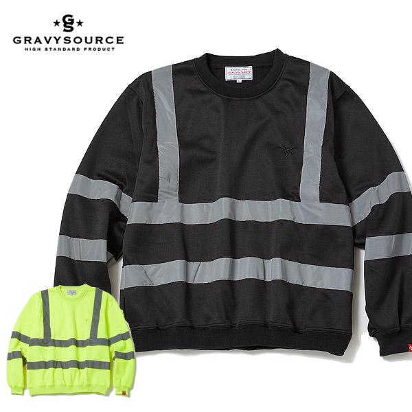 グレイビーソース GRAVYSOURCE REFLECTIVE CREWNECK gs20-hsw06 gravysource メンズ レディース スウェット 送料無料 ストリート