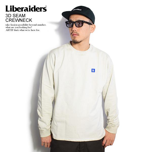 リベレイダース Liberaiders 3D SEAM CREWNECK 753032001 メンズ レディース ロンT カットソー 送料無料 ストリート