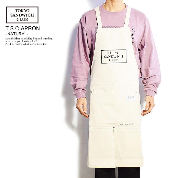 TOKYO SANDWICH CLUB トウキョウサンドウィッチクラブ T.S.C-APRON -NATURAL- tsc-20-0006 レディース メンズ エプロン H型エプロン ワークエプロン かっこいい 新作アイテム毎日更新 カジュアル お得 tsc ファッション ストリート 送料無料 おしゃれ