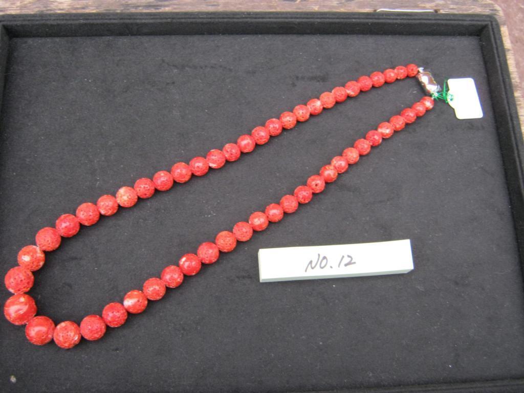 珊瑚 ネックレス 四国名産 珊瑚のネックレス 土佐宿毛産天然宝石i珊瑚  アクセサリー ネックレス お祝い贈答品【日成之宝石珊瑚ー12】真紅の宝石珊瑚ネックレス 世界に一つ自分だけのデザイン。  記念品、贈り物に最適 ケース入り。贈答包装無料 売り切れあり