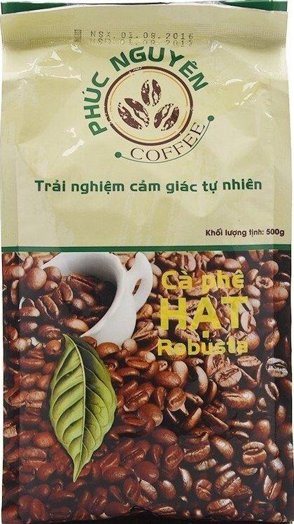 PHUC NGYUEN は中部ベトナムQUANG TRI省にある有名なコーヒー喫茶店です ベトナムコーヒ- COFFEE ベトナムロブスタ 500gr袋 コーヒー豆 在庫1 信託 割引