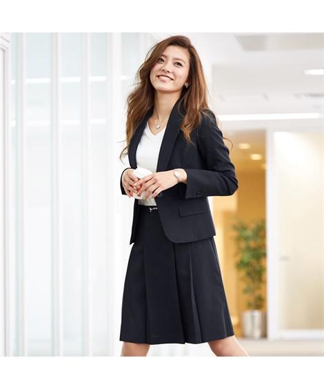 スーツ レディース ビジネス スカート セット オフィス 仕事 通勤 大きいサイズ グラマーサイズ 7号 9号 11号 13号 15号 17号 チャコール杢 ネイビー 黒 グリーンストライプ 黒無地 nissen オフィス ビジネス 通勤 仕事 OL 女性 ニッセン