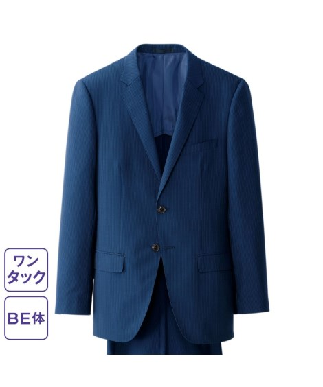 スーツ・スラックス ストレッチ素材スーツ(シングル2ボタン+ワンタックパンツ)(BE体) 大きいサイズメンズ BE6・BE7 ニッセン nissen