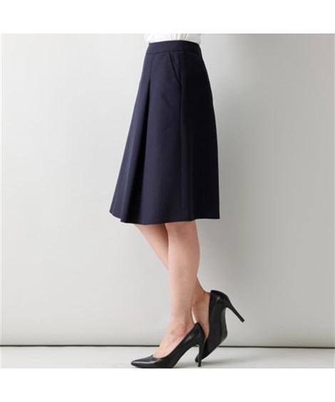スカートスーツ|洗えるタックフレアスカートスーツ(スカートポケット付)_ニッセン_nissen
