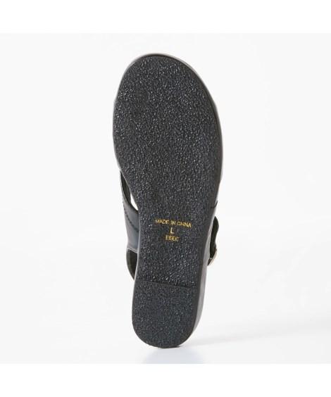 サンダル 大きいサイズ レディース 超軽量 オフィス 低反発中敷 ワイズ4E 年中 靴 黒 23.0~23.5/24.0~24.5cm ニッセン