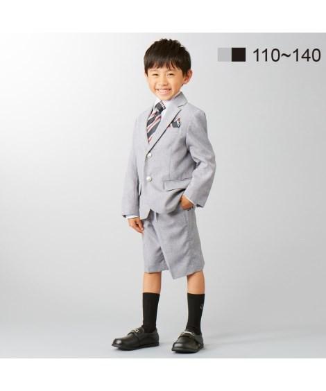 フォーマルウェア・フォーマルワンピース 【卒園式・入学式】フォーマルスーツ3点セット(ジャケット+シャツ+5分丈パンツ)(男の子)  110~130 ニッセン nissen