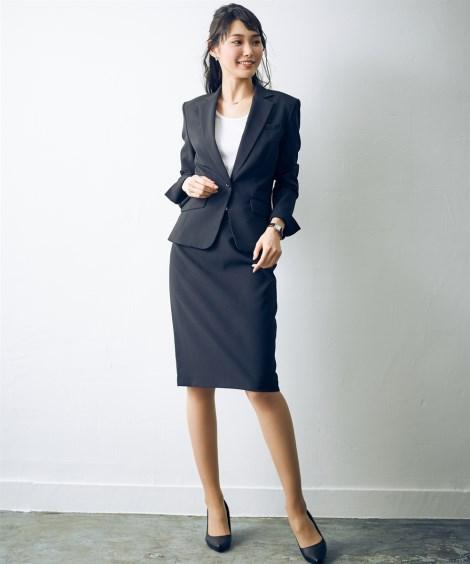 事務服 スーツ レディース スカート 洗える タイト セット 制服 オフィス 仕事 ビジネス 大きいサイズ トールサイズ 21号 23号 26号 ネイビー ライトグレーストライプ 黒 黒 ライトグレーストライプ nissen ビジネス 通勤 仕事 OL 女性 ニッセン