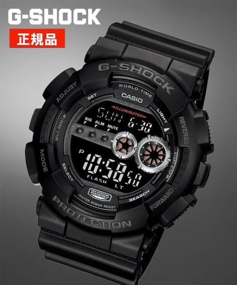 CASIO 腕時計 メンズ G-SHOCK GD-100-1BJF 年中 ブラック ニッセン