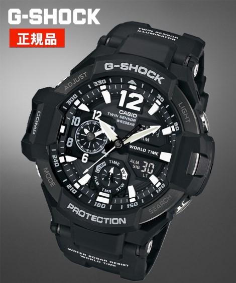 CASIO ウォッチ メンズ G-SHOCK スカイコックピット GA-1100-1AJF 腕時計 服飾 雑貨 アナログ ニッセン