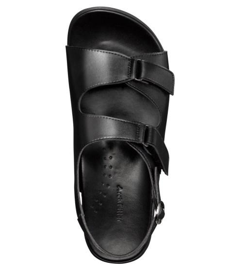 AKAISHI サンダル レディース アーチフィッター406 O脚 バック ベルト 年中 靴 ブラック 22.0~22.5/23.0~23.5/24.0~24.5cm ニッセン