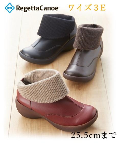 ニッセン 靴(シューズ) リゲッタカヌー ショートブーツ(CJAW-4305) レディース コンフォートシューズ 3E nissen