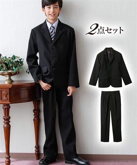 アウター キッズ 卒業式 フォーマルスーツ(ジャケット+パンツ)(男の子 子供服 ジュニア服) フォーマル ウェア スーツ 黒+黒 170 ニッセン