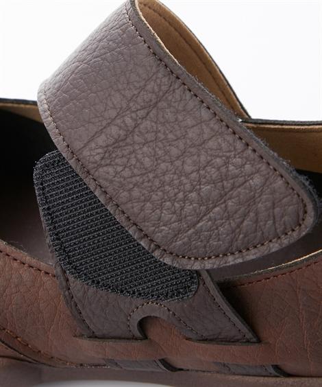 ベルクロ R-321 レディース シューズ ブラック/ 22.0〜22.5/23.0〜23.5/24.0〜24.5/25.0〜25.5cm リゲッタ ストラップ シャドーブルー/ ライトオーク アイボリー/ 靴 ブラウン/ 年中 ニッセン