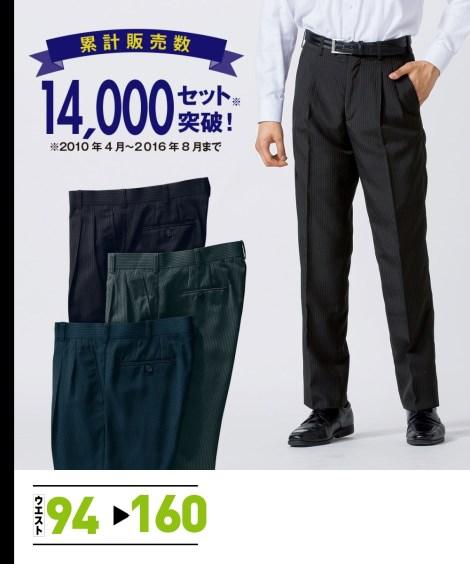 スーツ・スラックス ツータックパンツ3本組 ニッセン nissen