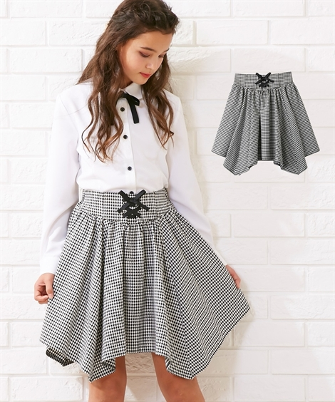 fbe7056427617 楽天市場 アウター キッズ 卒業式 スクエアヘムパンツインスカート ...