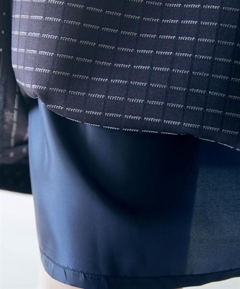 フォーマルワンピース・ドレス 【入園・入学・卒園・卒業】トールサイズ_着まわし可能!3点セット(ジャケット(テーラード+ノーカラー)+ドット柄ワンピース)_ニッセン_nissen
