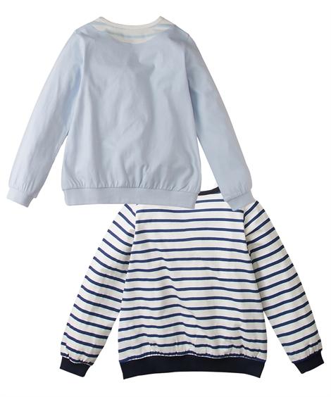 74c576a18296c 重ね着風Tシャツ2枚組(女の子 子供服・ジュニア服) ニッセン nissen