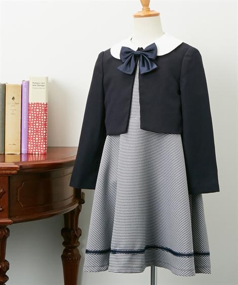 スーツ フォーマル キッズ ボレロ + ワンピース 女の子 子供服 ウェア ネイビー 身長110/120/130cm ニッセン
