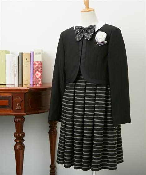 スーツ フォーマル キッズ ボレロ + ワンピース 女の子 子供服 ジュニア服 ウェア ブラック 身長150/160/165cm ニッセン