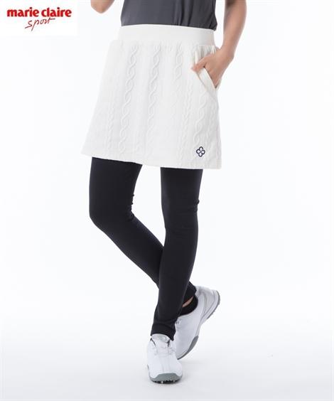 marie claire SPORT スポーツウェア ボトムス 大きいサイズ レディース marieclaireSPORT レギンス スカート オフホワイト/ブラック 4L/5L/6L ニッセン