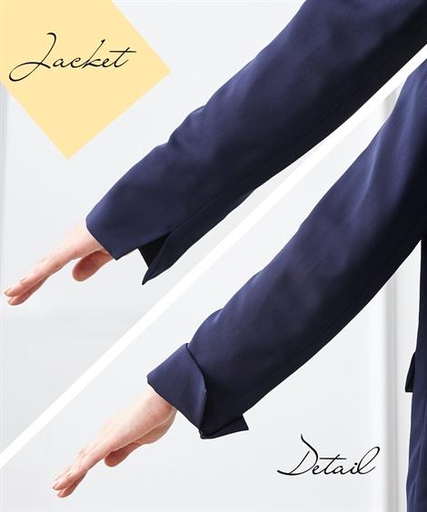 フォーマルパンツスーツ|【入園・入学・卒園・卒業】デザインブラウス金ボタンジャケットスーツ3点セット<大きいサイズ有>_ニッセン_nissen