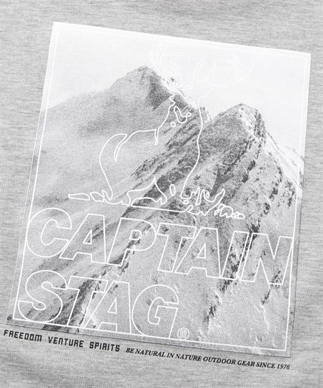 Tシャツ・カットソー|CAPTAIN_STAG(キャプテンスタッグ)ポンチ_プリントクルーネック長袖Tシャツ_ニッセン_nissen