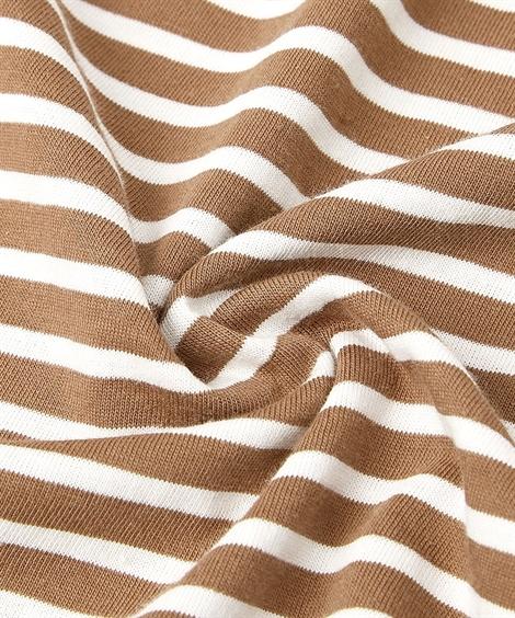 パジャマ(ルームウェア)_上下セット|夏の綿100%パジャマ_薄手がうれしいコットンレース付長袖チュニック+ボトムセット_ニッセン_nissen