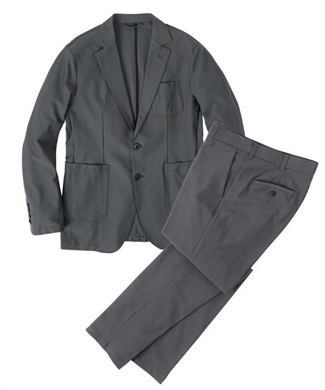 S M L 配送員設置送料無料 LL 日本全国 送料無料 スーツ メンズ 高機能 カジュアル テーラード スラックス ジャケット ニッセン グレー カーキ セットアップ nissen