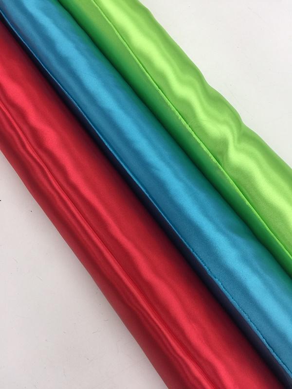 イベント 舞台 ドレス衣装にポリエステル100% 優雅な光沢と美しい色彩 セール品 カラー無地 サテン生地 生地 ドレス衣装に 新作アイテム毎日更新 赤~黄~茶 蛍光系 布