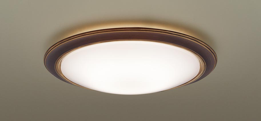 LEDシーリングライト LGBZ3510K (~12畳用)(調色)(カチットF・枠:ヴィンテージブラス)パナソニックPanasonic