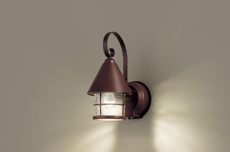 (点灯省エネ型) FreePa Panasonicパナソニック (電気工事必要) (ダークブラウン多色塗装) LEDポーチライトLGWC85044AK