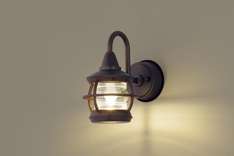 ポーチライト(防雨型) LGW85216Z(LED) (40形)ダークブラウンメタリック 電球色(電気工事必要)パナソニック Panasonic