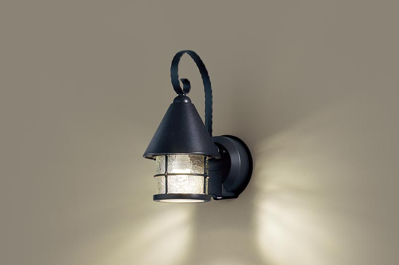 ポーチライト(防雨型) LGWC85044BZ(LED) FreePaセンサ付省エネ点灯型(40形)オフブラック 電球色(電気工事必要)パナソニック Panasonic