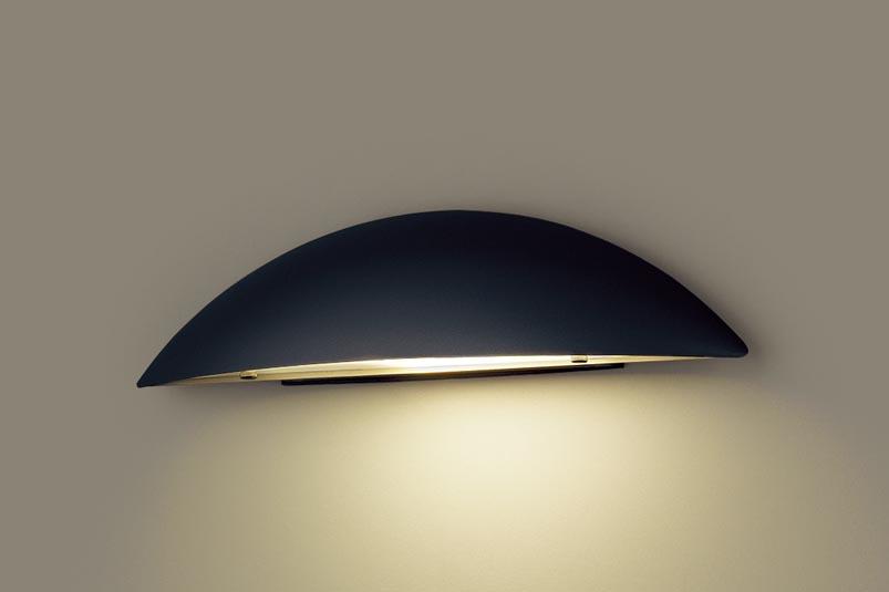 (防雨型)LED表札灯 LGW85100BZ (電球色)(オフブラック・ガラス透明模様入)(電気工事必要)パナソニック Panasonic