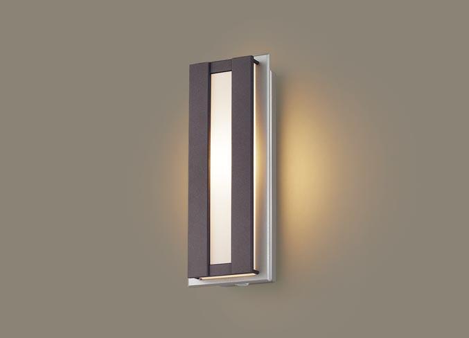 FreePa(段調光省エネ)LEDポーチライト(電球色)LGWC80415LE1(ダークブラウンメタリック)(電気工事必要)パナソニックPanasonic