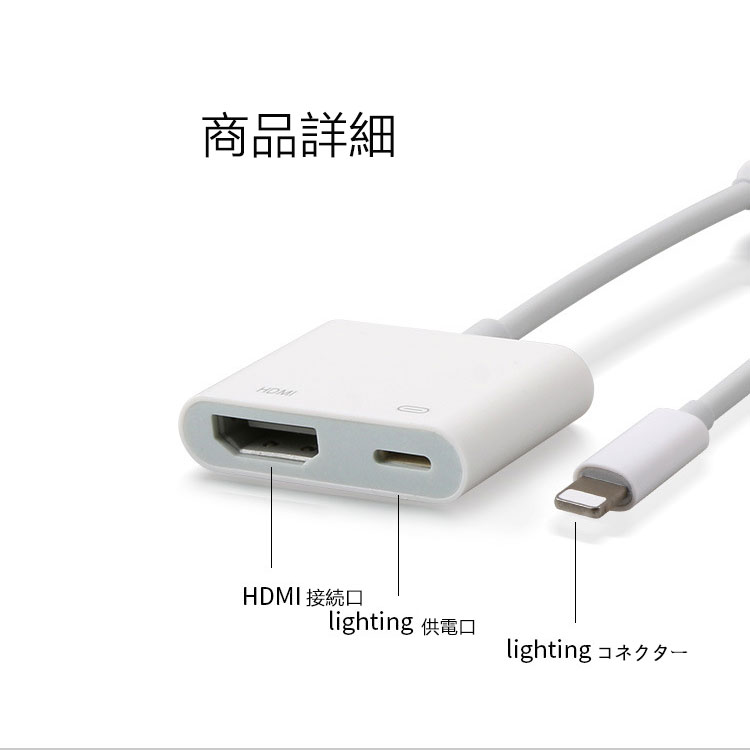 hdmi 変換 ケーブル iphone