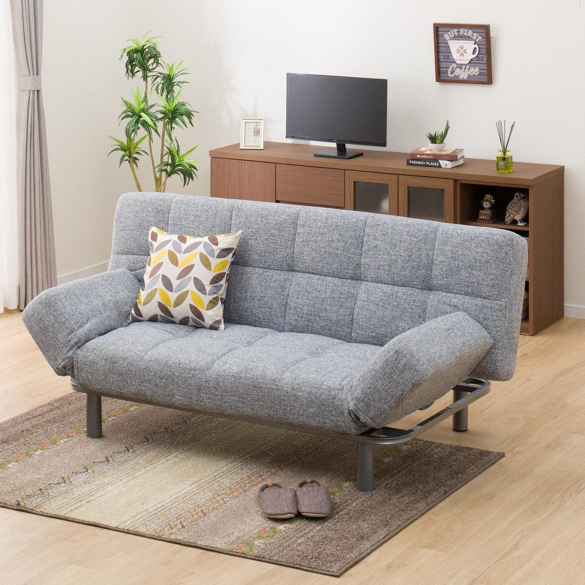 ソファベッド(マークスAM GY) ニトリ 【配送員設置】 【5年保証】