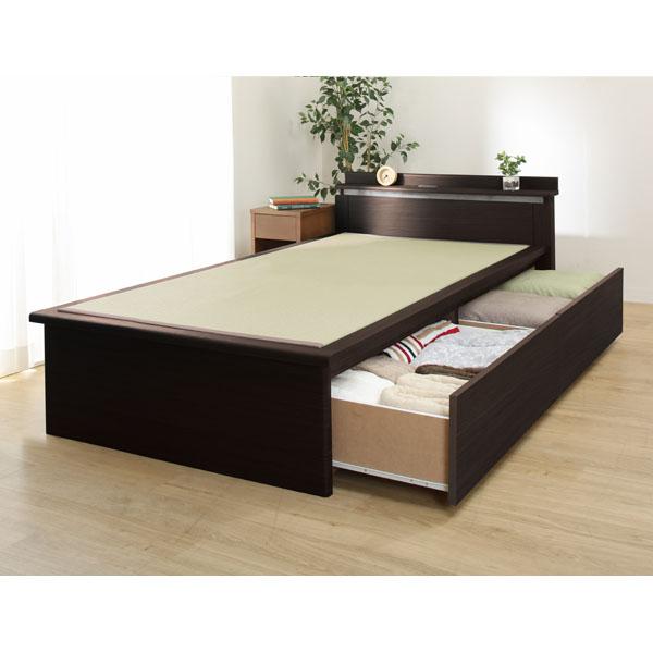シングル畳ベッドフレーム(セイカ2 C40引出付きDBR) ニトリ 【配送員設置】 【5年保証】